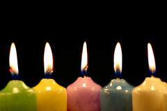 Five burning candle Royalty Free Stock Photo