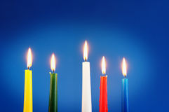 Five burning candles Royalty Free Stock Image