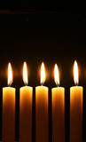 Five burning candles Royalty Free Stock Photo
