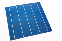 Five bus bar solar cells. For PV module production Royalty Free Stock Photos