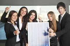 Five business people sell solar energy Stock Images
