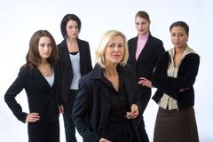 Five businesspeople Stock Images
