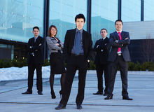 Five Businesspersons In Formal Clothes Stock Photos