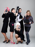 Five businesswomen Stock Photography
