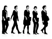 Five businesswomen Stock Image