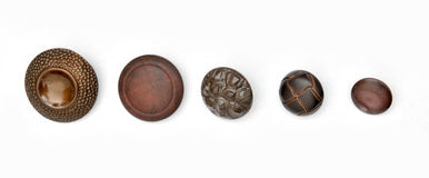 Five buttons Stock Images