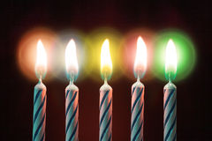 Five candles on birthday Royalty Free Stock Photos