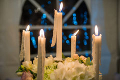 Five candles Royalty Free Stock Photos