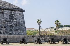 Five Cannon in Cuba Stock Images