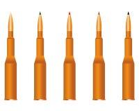 Five cartridges Stock Photos