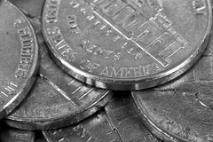 Five cent coins Royalty Free Stock Photography
