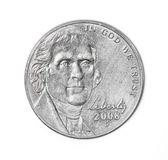 Five cents. American coin. Nickel Royalty Free Stock Image
