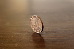 Five cents. A detail photo of a european coin of five cents Royalty Free Stock Photo
