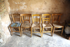 Five chairs Stock Images