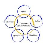 Characteristics of Patient Centeredness. Five Characteristics of Patient Centeredness stock illustration