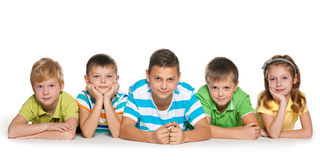 Five cheerful children Stock Photography