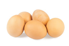 Five chicken eggs Royalty Free Stock Photo