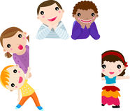 The five children of different nationalities . Royalty Free Stock Photos