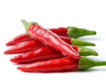 Five of chili Stock Photography