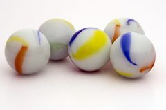 Five China Marbles Stock Image