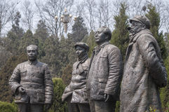Five Chinese Communist Party secretary statue Stock Photography