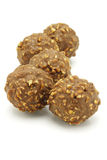 Five chocolate balls Royalty Free Stock Photography