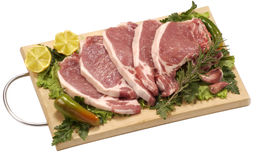 Five chops Stock Photo