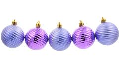Five christmas tree balls Royalty Free Stock Photography