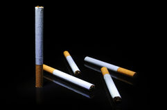 Five cigarettes Royalty Free Stock Photo