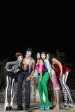 Five Cirque Clowns. Group of five cirque clowns on stage Royalty Free Stock Image