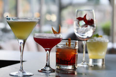 Five classic Cocktails Royalty Free Stock Image