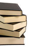 Five closed black books Stock Photo