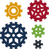 Five cogs Royalty Free Stock Photo