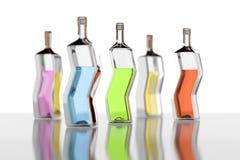 Five color bottles Stock Image