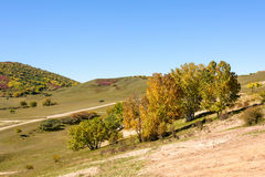 five Color mountain autumn scenery royalty free stock photos