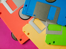 Five Color Of Old Floppy Disk Stock Images