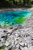 Five Color Pond at Jiuzhaigou, Sichuan, China. Stock Photos