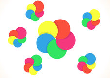Five color rings Royalty Free Stock Photos