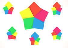 Five color squares Royalty Free Stock Photo