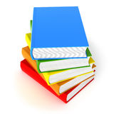 Five Colored Books Isolated On White Royalty Free Stock Photo