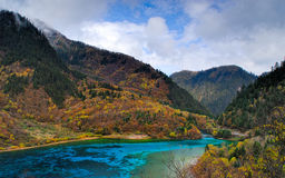 Five colored  lake Stock Images