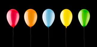 Five colorful balloons Stock Photos