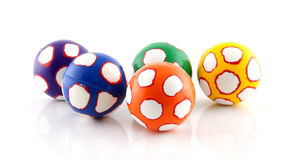 Five colorful balls Stock Image