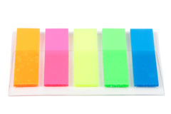 Five colorful bookmarks Stock Photos