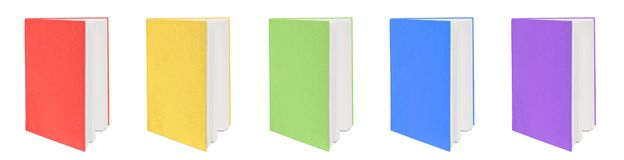 Five colorful books. Stock Images