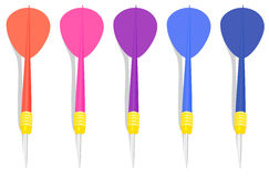 Five colorful darts Royalty Free Stock Photography