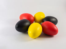 Five colorful of the eegs. Close up of five colorful of the eegs Royalty Free Stock Photography