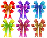 Five colorful ribbons Royalty Free Stock Image