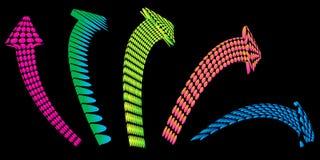 Five colors arrows Stock Photo