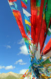 Five Colors of the flags of Tibetan Buddhism Stock Photos